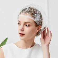 يمكن التخلص منها حماية قبعة فندق مطاطا دش قبعة الاستحمام واضح الشعر صالون الحمام منع العدوى سلامة مكافحة الفيروسات