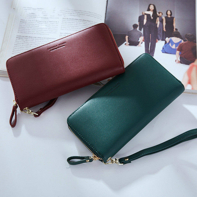Wallet Women Wristband Long Clutch Wallet Large Capacity Wallets Female Purse Lady Purses Phone Pocket Card Holder Carteira