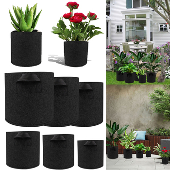 Grow Bag Flower Pot Plants Greenhouse Vegetable Growing Bags For Tomato Potato Carrot Seedling D30