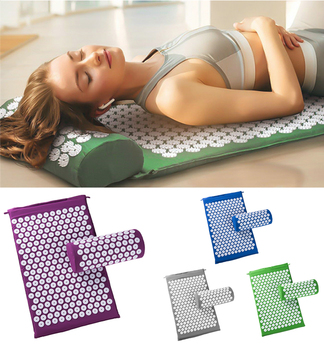 66*42cm Massage Cushion Yoga Acupressure Mat and Pillow Set For Neck Back Foot Stress Pain Relief Fitness Massage Spiky Pad 1