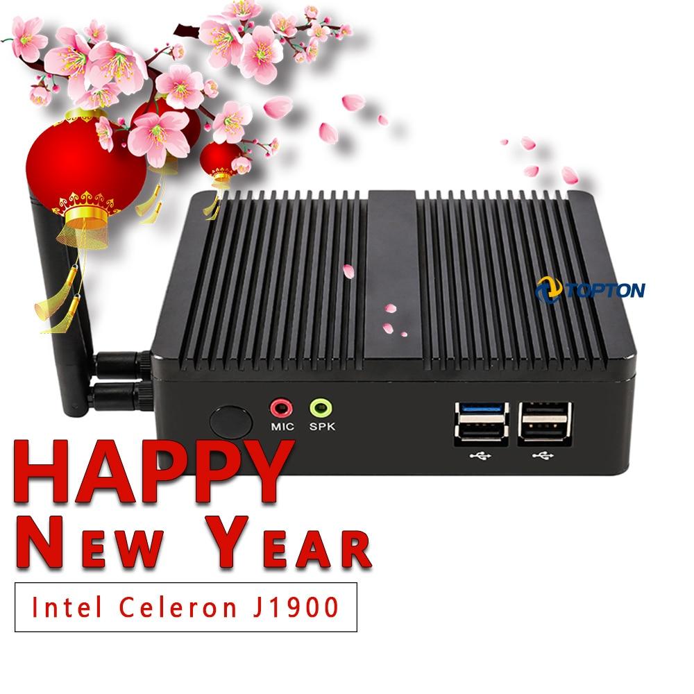 Mini PC Windows 7/10 Pro OS(64 Bits) With Intel J1900 Processor HD Graphics Fanless Mini Desktop Computer With WiFi /Bluetooth