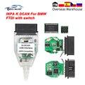 Инструмент для диагностики автомобиля INPA K DCAN с переключателем FTDI OBD 2, инструмент INPA K + CAN для BMW, автомобильный OBD2 сканер K line K-line, USB-кабель инт...