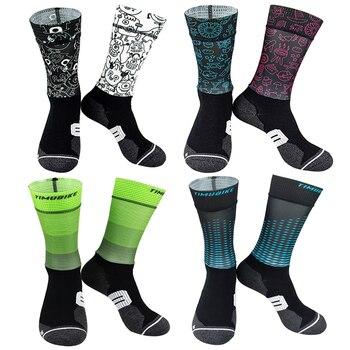 Anti derrapante profissional bicicleta meias meias de compressão esporte meias de rua esportes meias de corrida ciclismo 1