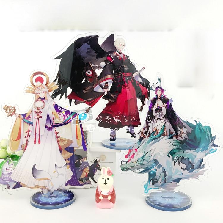 Anime Game Onmyoji Yamata No Orochi Onikiri Aoandou Ootengu Acrylic Stand Figure Decoration Cosplay Desk Decor Fans Gift 15cm