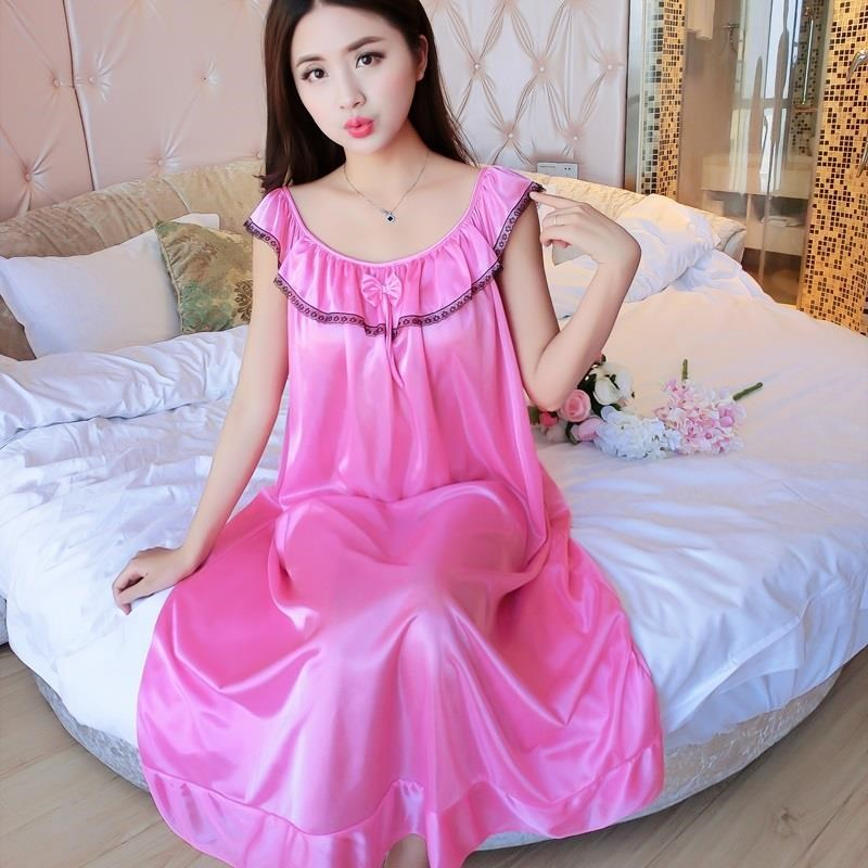 Big Size 4XL Women Night Gowns Sleepwear Nightwear Long Sleeping Dress Nightgown Women Casual Night Dress Ladies Home Dressing