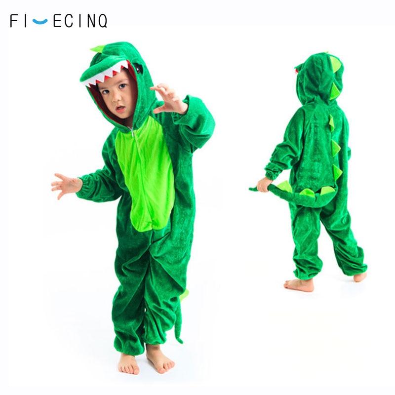 Disfraz de Anime Kigurumis de animales para niños, disfraz divertido para fiesta escolar, juegos para estudiantes, Onesies, actuación de dinosaurio, Tigre, Fantasía