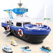 Barco de Bomberos de rescate marino, juguetes para niños de simulación, pista de inercia, barco de música, modelo de barco, juguete no remoto