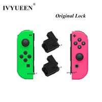 Lvyueen 1 par Original hebilla de bloqueo negra para interruptor Nintend NS NX Joy-Con piezas de repuesto accesorios para juegos Con