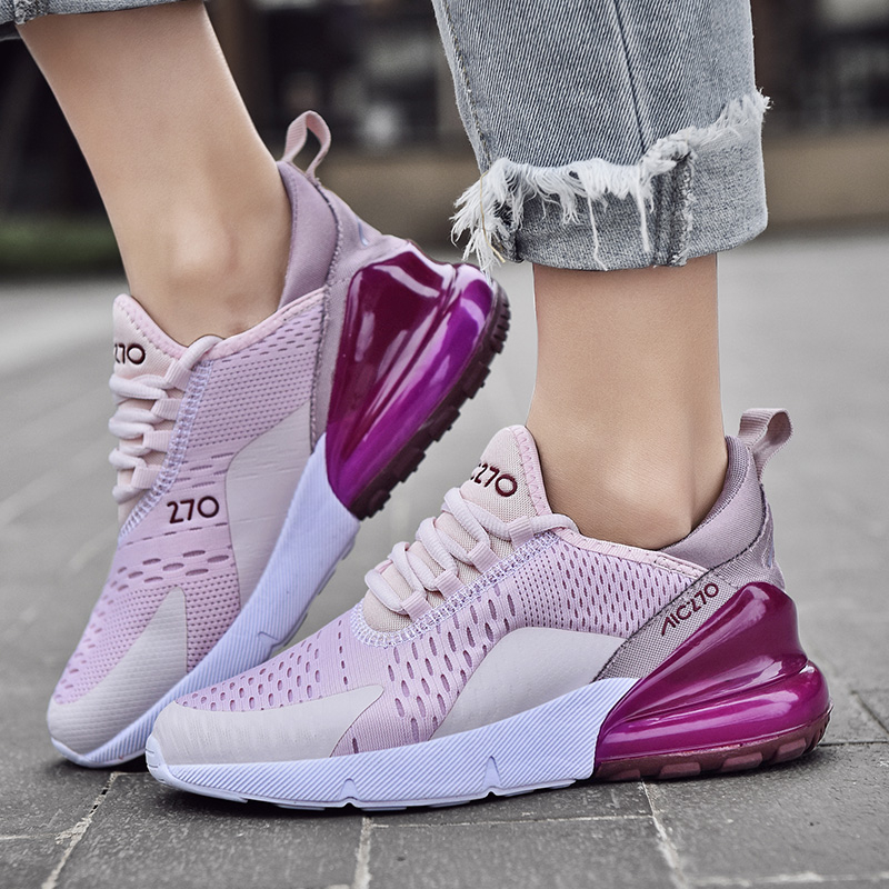 Sneakers Damping-Shoes Platform Air-Cushioning Non-Slip Ladies Trainers Plus-Size Women title=