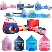 Play Tent House-Ball Ball-Pool Crawling Tunnel Pit Portable Children Ocean-Ball-Holder-Set