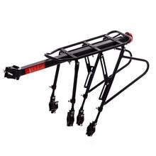цена на Black Bike Bicycle Quick Release Luggage Seat Post Pannier Carrier Rear Rack Fender