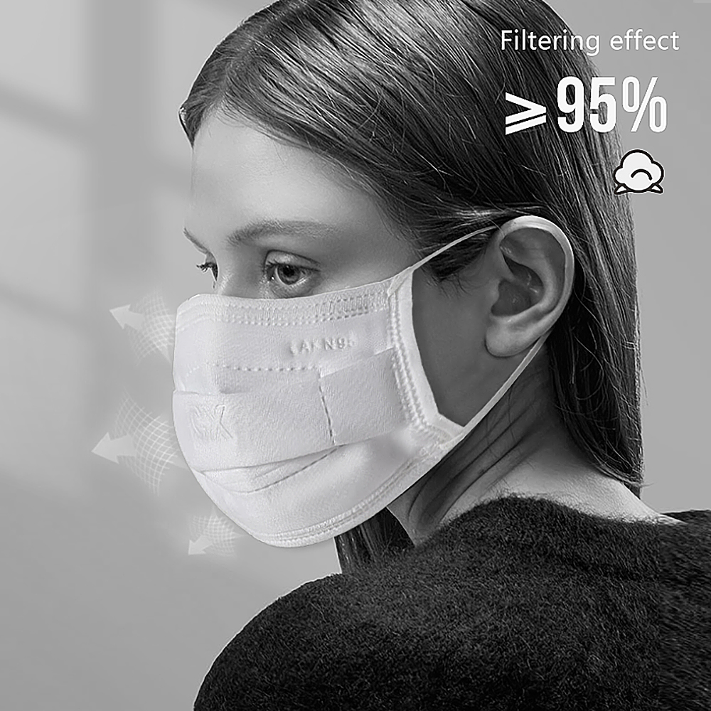7-Layer KN95 Masks,Adjustable Nose Clip Comfort Nose Pad Great For Personal Health And Preventing Bacteria Dust