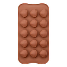 Silicone 15 Cavity Cameo Shell Mold For Chocolate Sugar Ice Cube Tray Molds Jelly Pudding Craft Soaps Baking Tools 15 cavity silicone drink ice cube pudding jelly cake chocolate mold mould tray set of 2 460001