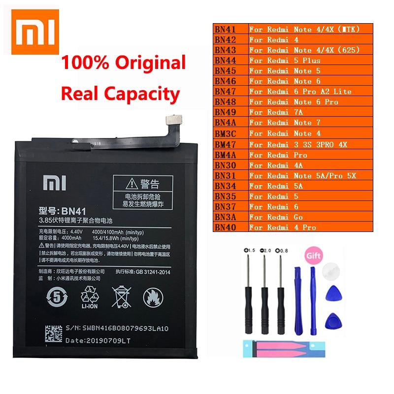 XiaoMi телефон батарея Redmi Hongmi Note 3 3S 4 4A 4X 5 5A 5X 6 6 7 7A экшн-камеры Go Pro Plus A2 Lite BN41 BN31 BM47 замена батареи