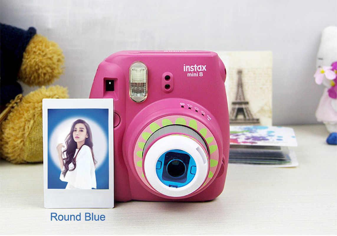 4 Pcs 1 Pack Fujifilm Instax Mini 8 7S 8 + Kitty Kamera Filter Warna-warni Bulat Bentuk Hati hollow Keluar Close Up Lensa Kamera