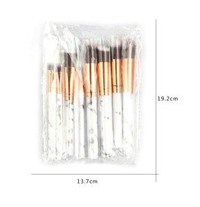 Image 5 - Набор кисточек для макияжа ESSANCEYA, набор кисточек для макияжа с мраморным узором для пудры, основы для век, 7/10/20 шт.