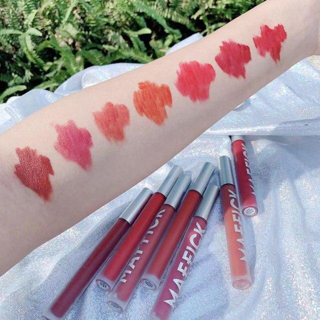 Liquid Lipstick Matte Long Lasting Waterproof Makeup Lips Red Velvet Nude Lip Gloss Make Up Cosmetics Matte Lipsticks Lip Tint 4
