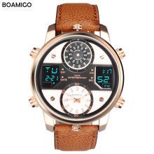 Boamigo/брендовые модные повседневные коричневые мужские часы
