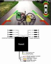 OPS System Parktronics Car Parking Sensors 8 Alarm Probe digit and waterproof front Reverse sensor blind spot parking system