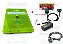ใหม่รุ่น2ฟังก์ชั่นCBOX MVS SNK NEOGEO CMVS + JAMMA SUPERปืนการปรับภาพเล่นเกมโดยSNK joypadหรือUSB Joypad