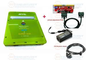 Image 1 - ใหม่รุ่น2ฟังก์ชั่นCBOX MVS SNK NEOGEO CMVS + JAMMA SUPERปืนการปรับภาพเล่นเกมโดยSNK joypadหรือUSB Joypad