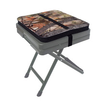 Hunting Seat Cushion Camo Foam Mat Stadium Seat Pad With Adjustable Strap Moisture Proof Sitting Pad for Camping Fishing Chair N