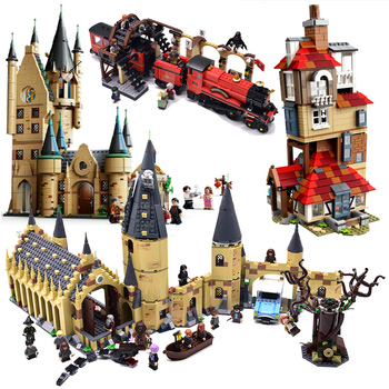 Magic Animals Castle Harried Building Blocks Brick Potter Cartoon Action Figure Toys Game Model Anime Gift for Children image