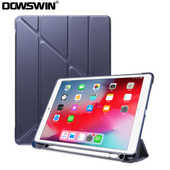 For iPad Pro 10.5 Case with Pencil Holder, Smart Cover Air 3 Leather 10.2 7th Gen 2019 - discount item  30% OFF Tablet Accessories