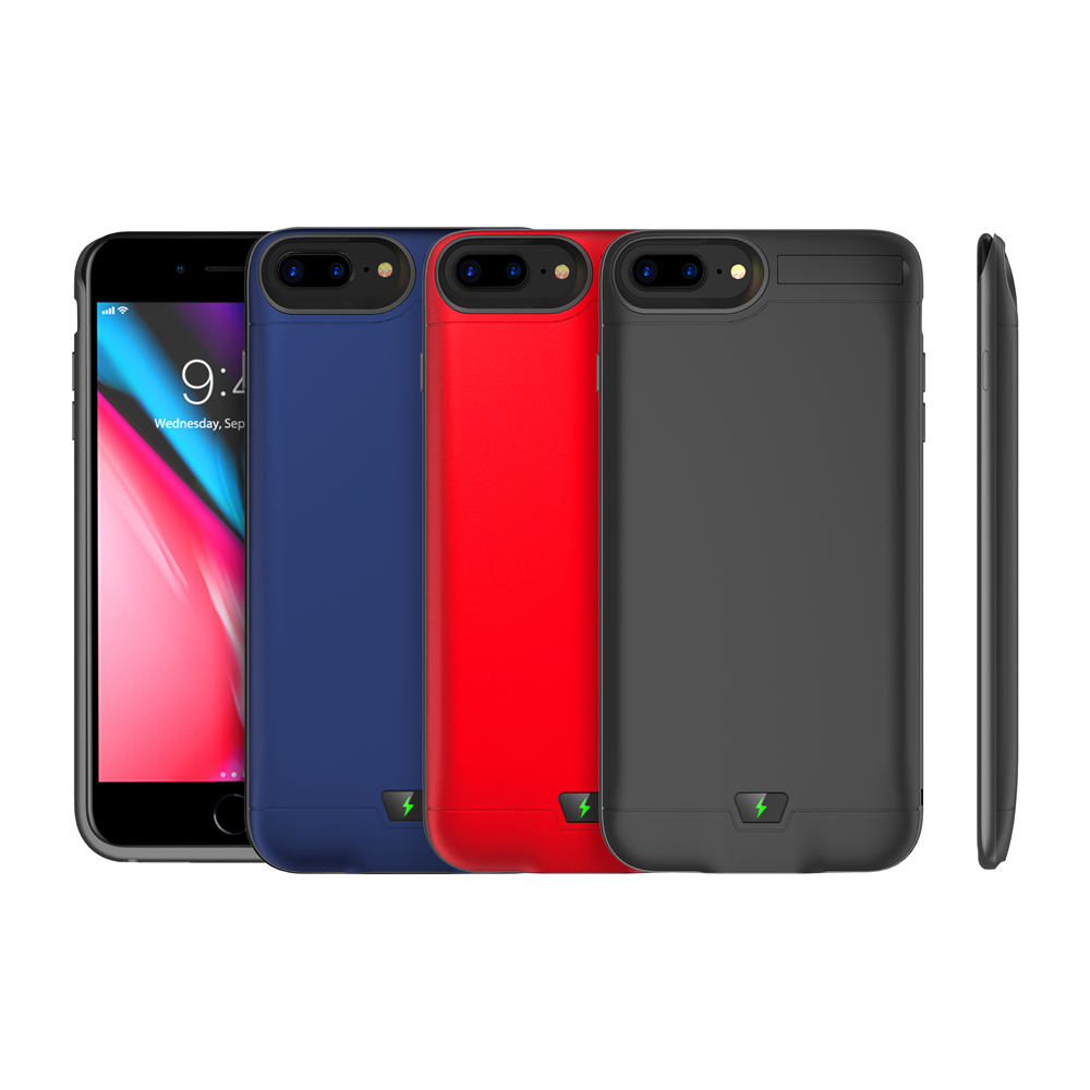 8500mAh <font><b>Battery</b></font> Charger <font><b>Case</b></font> For <font><b>iPhone</b></font> <font><b>7</b></font> Plus 8 Plus External Backup Charger Power <font><b>Bank</b></font> <font><b>Battery</b></font> <font><b>Case</b></font> with Kickstand Coque image