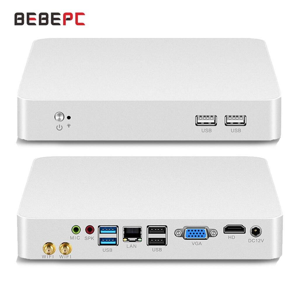 Мини-ПК HTPC Intel Core i7 6500U i5 4200U 3317U Windows 10 Pro, мини-компьютер с USB, кулер для офисного стола, мини ПК, Wi-Fi, HD-графика