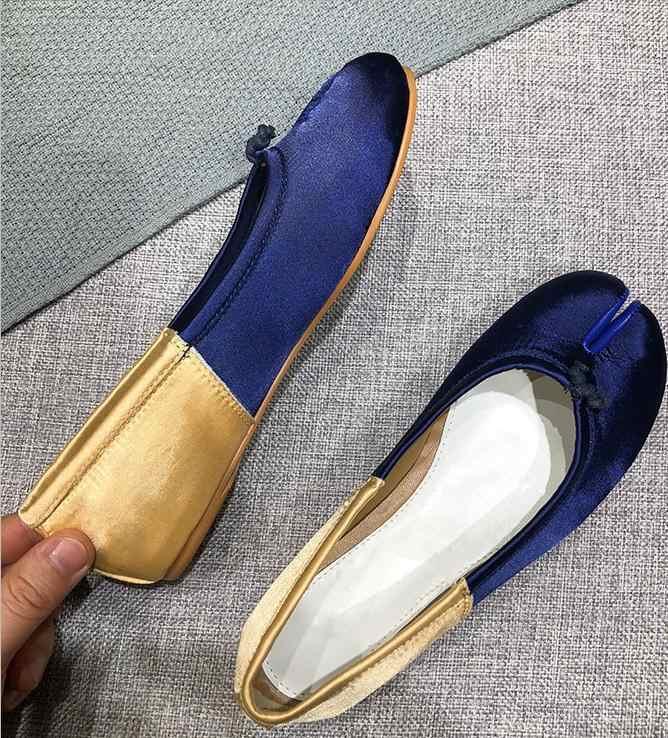 Tabi düz ayakkabı kadın sonbahar loafer'lar kadın bale Sapato Feminino bayanlar ayakkabı üzerinde kayma moda kadın ayakkabı Zapatos De Mujer