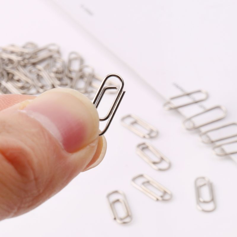 50Pcs Small Mini Metal Paper Clips Bookmarks Photos Letter Binder Clip School Supplies Stationery Office Accessories