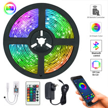 LED Strip Light RGB 5050 SMD 2835 Flexible Ribbon 20M 15M 10M 7.5M 5M Tape Diode DC12V Bluetooth Music Control