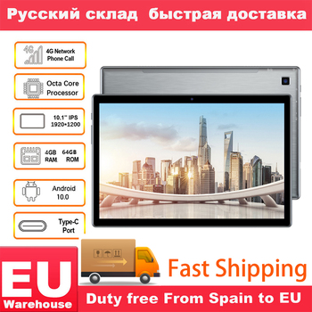 Teclast P20HD 4G Phone Call 4GB RAM 64 ROM Tablet PC 1920x1200 Android 10 Octa Core 10.1 inch IPS SC9863A GPS 6000mAh Tablets