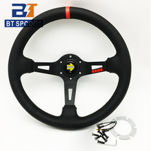 13inch 330mm 335mm Sport Steering Wheel Leather Deep Race Steering Wheel High Quality 2021 Drift Stering Wheel With Mo*LOGO