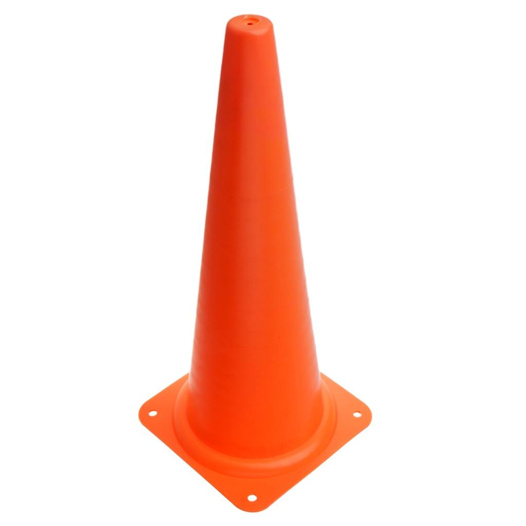 48 см конус безопасности для спортивных тренировок, футбола, строительства, дорожного движения - Цвет: Оранжевый