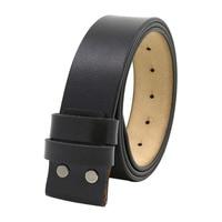 Cinturón de repuesto para hombre, correa de cuero, cinturón ajustable sin hebilla