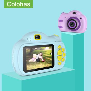Aparat fotograficzny dla dzieci aparat fotograficzny Fotograficas 2 4 cala aparat fotograficzny dla dzieci aparat fotograficzny zabawki urodziny dzieci zabawki prezentowe dla dzieci aparat fotograficzny tanie i dobre opinie Colohas 2x-7x Brak Full hd (1920x1080) 4 3 cali 18-55mm 5 0-9 9MP KC-02 Karta sd Standardowy ekran 2 -3 Bateria litowa