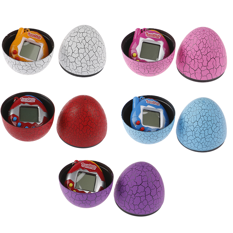 Hot Sell Kids Electronic Virtual Pet Machine E-pet Dinosaur Egg Toys Cracked Eggs Cultivate Game Machine For Children Boy Girls