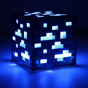 Image 2 - 2019 Hot Game Light Up Redstone Ore Square Toy Night light LED Action Toy Figure Light Up Diamond Ore Kids Gifts Toys