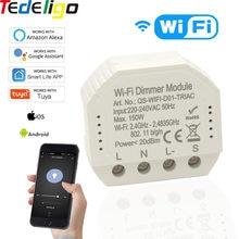 Modulo Dimmer luce WiFi 1gang 220V ~ 240V interruttore, Smart Life Tuya APP telecomando LED controllo vocale lavora con Google Home