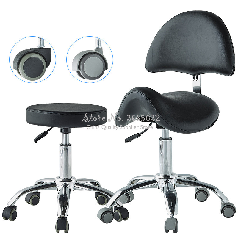 Comfortable Adjustable Saddle Stool Seat Furniture Ergonomic Medical Office Saddle Chair Rolling Swi