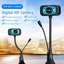 Computer HD Webcam Video Webcam USB Camera Built-in Microphone Video Teaching Live With Mic HD LED Web Camera MIC Computer