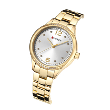 CURREN Ladies Watches Gold Stainless Steel Fashion Women's Watches Bling Diamond Quartz Wristwatches Water Resistant Relogios wristwatches binger business mechanical wristwatches sapphire full stainless steel men s watches water resistant bg 0378