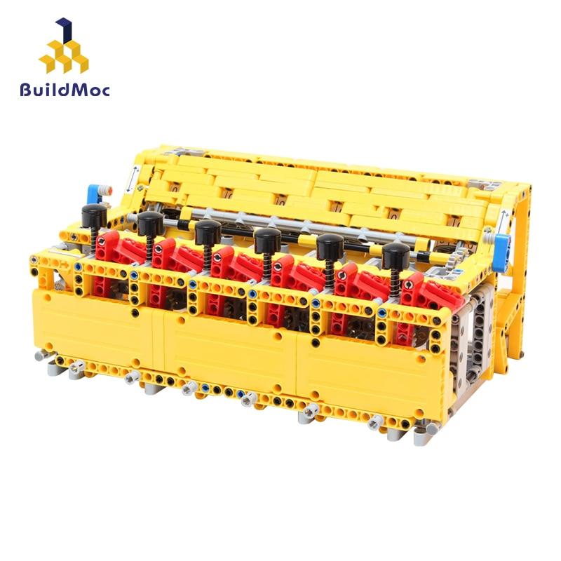 Buildmoc 4456 blocos de calculadora mecânica número educacional matemática calcular jogo brinquedos contagem material crianças