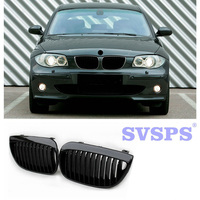 High Quality Tuning Front Middle Grille ABS Auto Parts Single Slat Style Two Color Options For BMW 1 series E81 E87 2004 2007|Racing Grills|   -