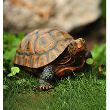 Lindo resina tortuga estatua al aire libre jardín estanque tienda Bonsai Animal decorativo escultura para casa adorno de decoración de jardín