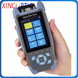 Pro Mini OTDR NK3200S Fiber Optic Reflectometer with 9 Functions VFL OLS OPM Event Map 24dB for 64km Fiber Cable Ethernet Tester