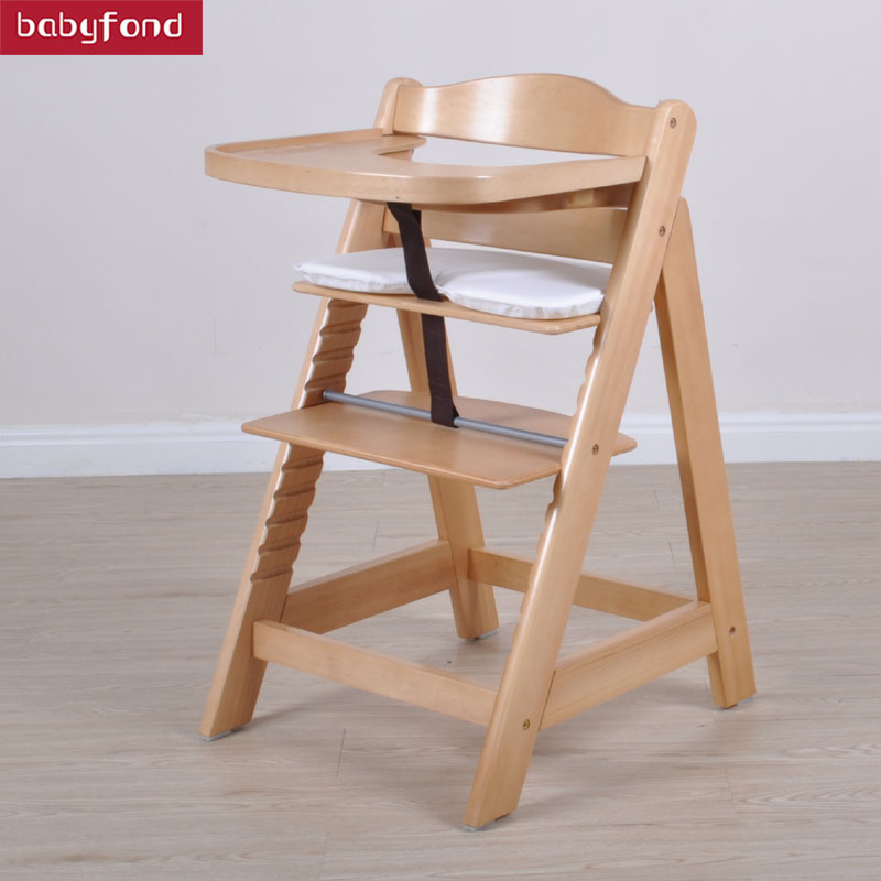 Multifunctional Baby Child Solid Wood Dining Chair Baby Dining Chair Solid Wood Baby Chair