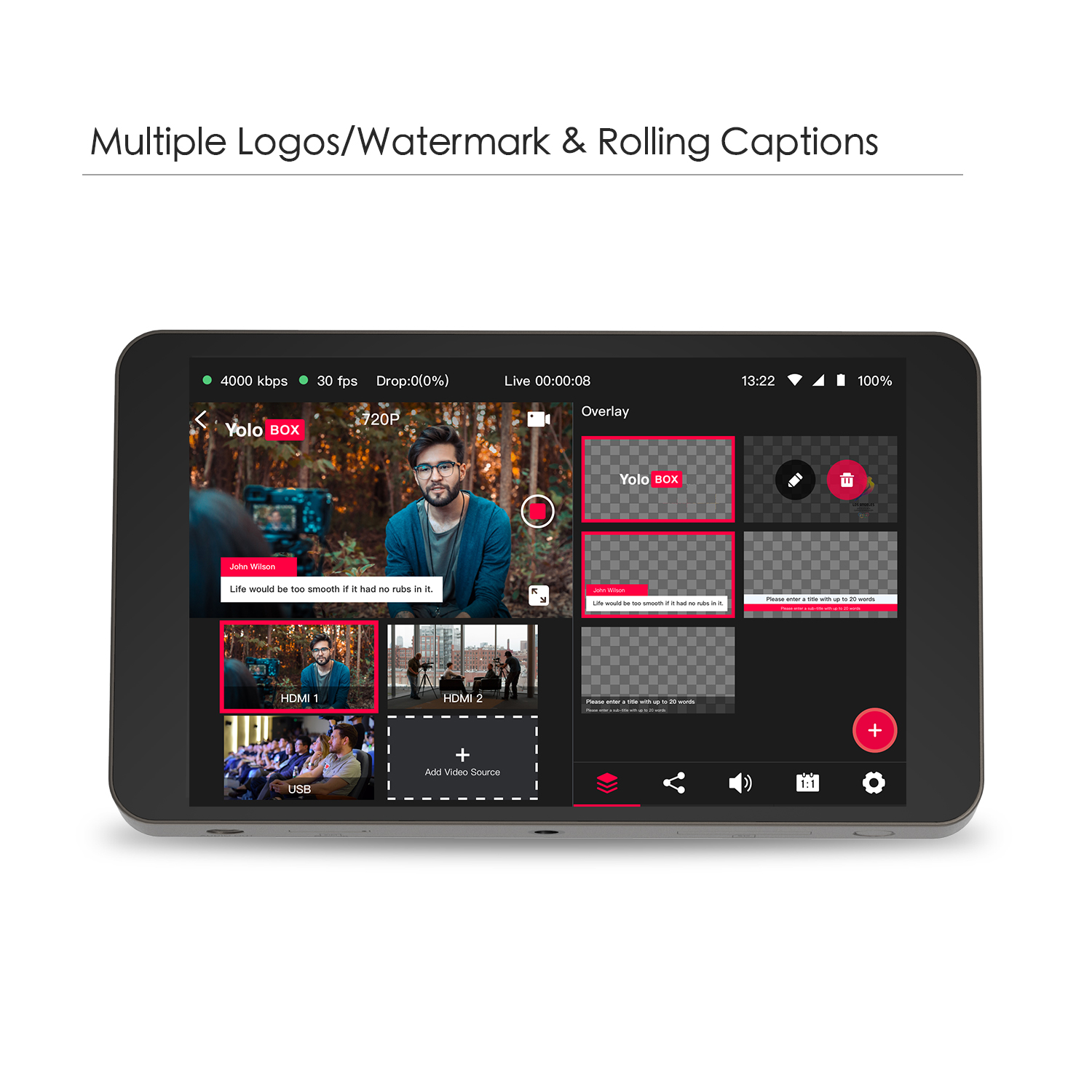 YoloLiv YoloBox portabil multi-camera live streaming studio - Camera și fotografia - Fotografie 3